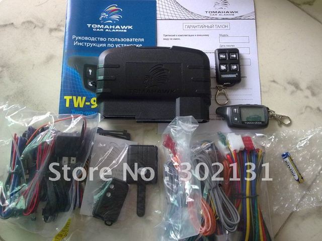 2013 High quality with lower price tomahawk two way car alarm TW9010. FREESHIPPING!!!