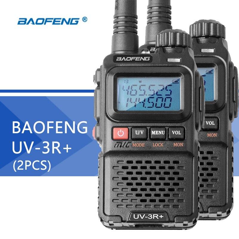 2 stks Baofeng UV 3R Plus Walkie Talkie Draagbare VHF UV 3R + CB Radio VOX Zaklamp Mini FM Transceiver ham Radio voor jacht-in Portofoon van Mobiele telefoons & telecommunicatie op AliExpress - 11.11_Dubbel 11Vrijgezellendag 1