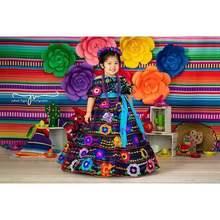 Mehofoto taco party photography background Mexican carnival cinco de mayo serape colorful stripe decor backdrop photocall prop