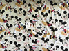170cm Width Beige Background Mickey Mouse Lycra Cotton Fabric For Baby Boy Clothes Sewing Patchwork DIY