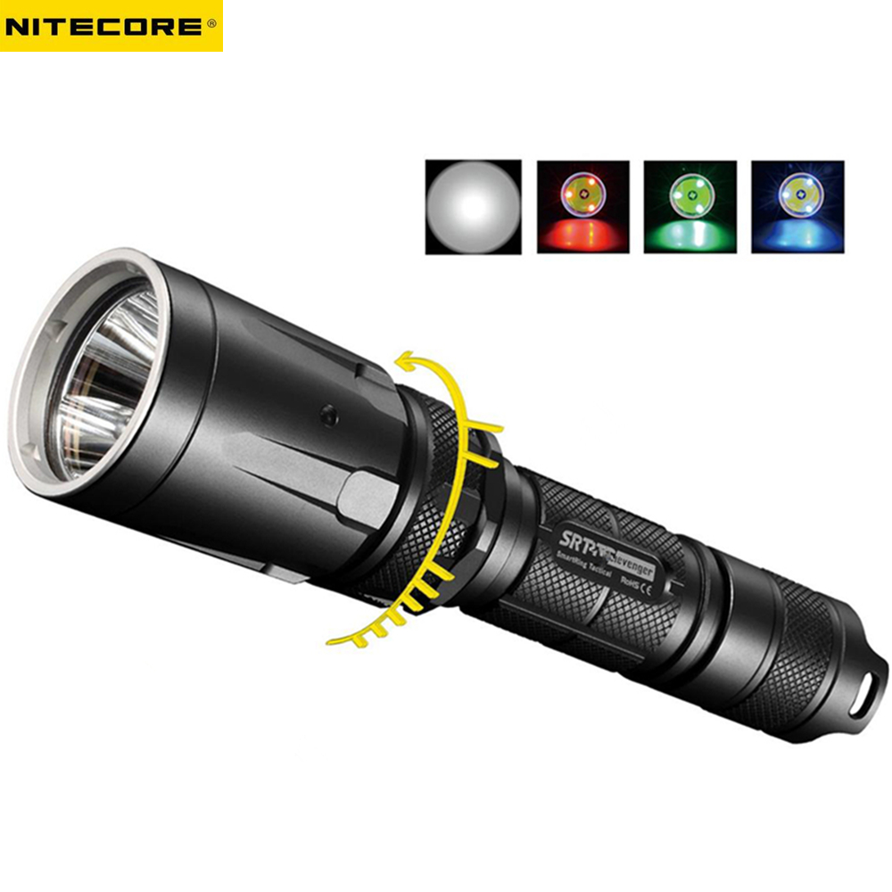 LED Outdoor Tactical Flashlight NITECORE SRT7 CREE XM-L2 T6 max. 960LM beam distance 308 meter SSR torch for search & rescue powerful handlight outdoor tactical flashlight 1300lm tactical led flashlight torch outdoor waterproof aluminum alloy