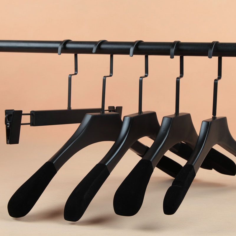 2pcs/lot 38cm-45cm Solid Wooden Hanger/Drying Wood Without Marks/Pants Racks (20pcs Can LOGO)