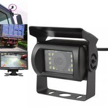 120 градусов водостойкая светодиодный камера заднего вида 12 В универсальная Авто ночного видения грузовик монитор шины резервная камера