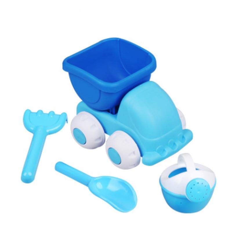4pcs/set Sand Beach Kids Toy Plastic Car Spade Water Jug Set Summer Funny Gift For Children