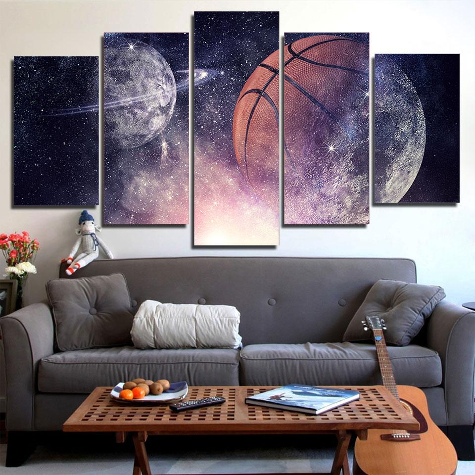 Hd Prints Poster Decor Pictures Canvas Modular 5 Pieces