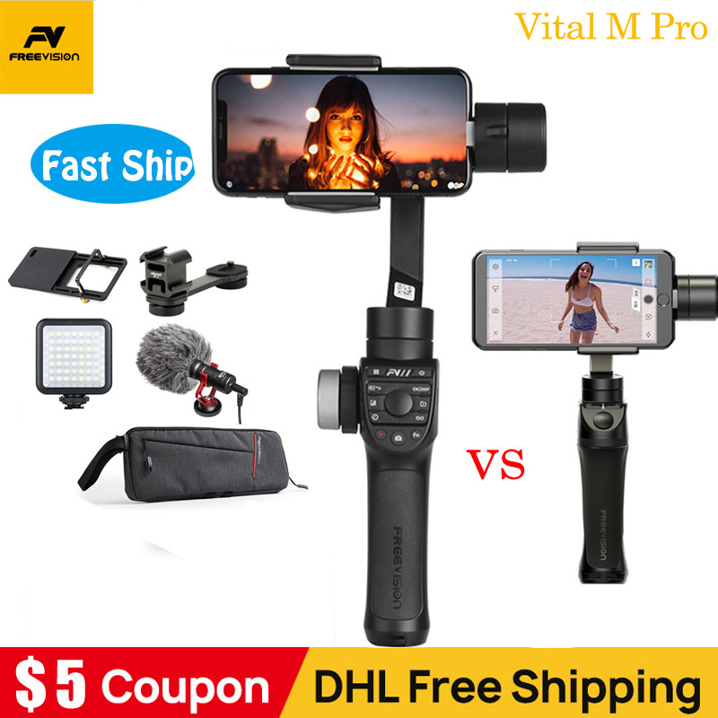 Freevision Vilta M Pro Vilta m 3 axis Handheld Gimbal Smartphone Stabilizer for iPhone Samsung GoPro