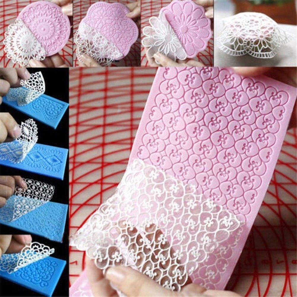1pc Lace Silicone Mold Mould Sugar Craft Fondant Mat Cake Decorating Baking Tools craft