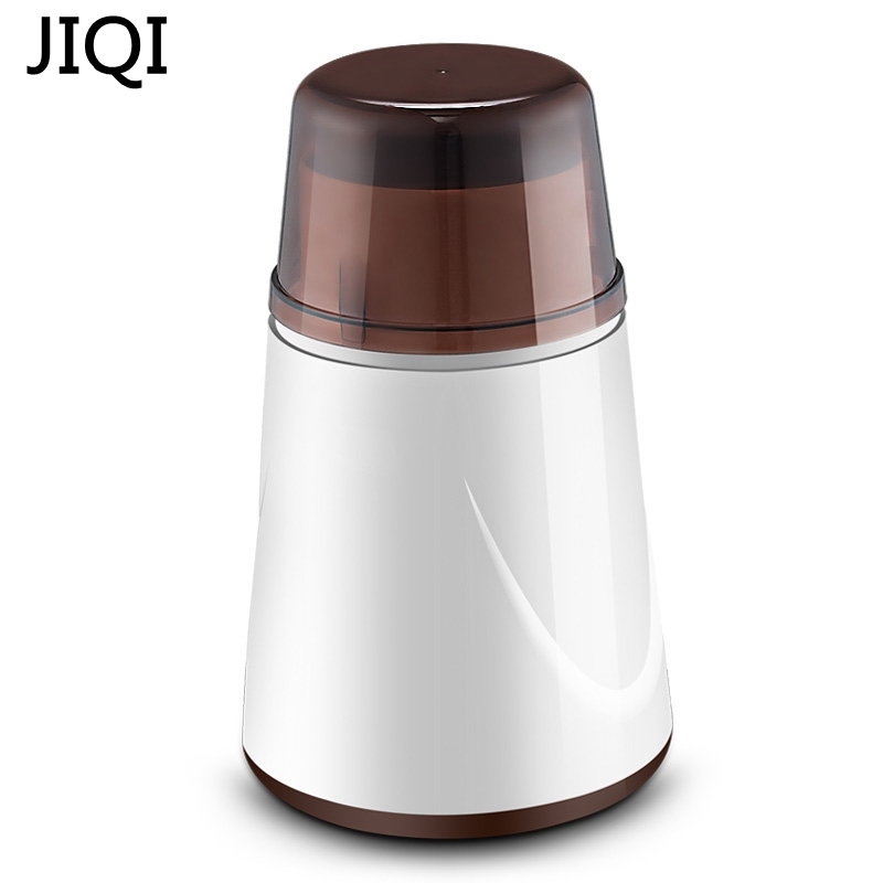 JIQI Multifunctional Mini Household 80W Herb grinder For grain/spice/medicinal materials Stainless steel blade Powder maker dmwd 200w household electric mini grinder for grain chinese medicine coffee bean seasoning stainless steel blade powder maker
