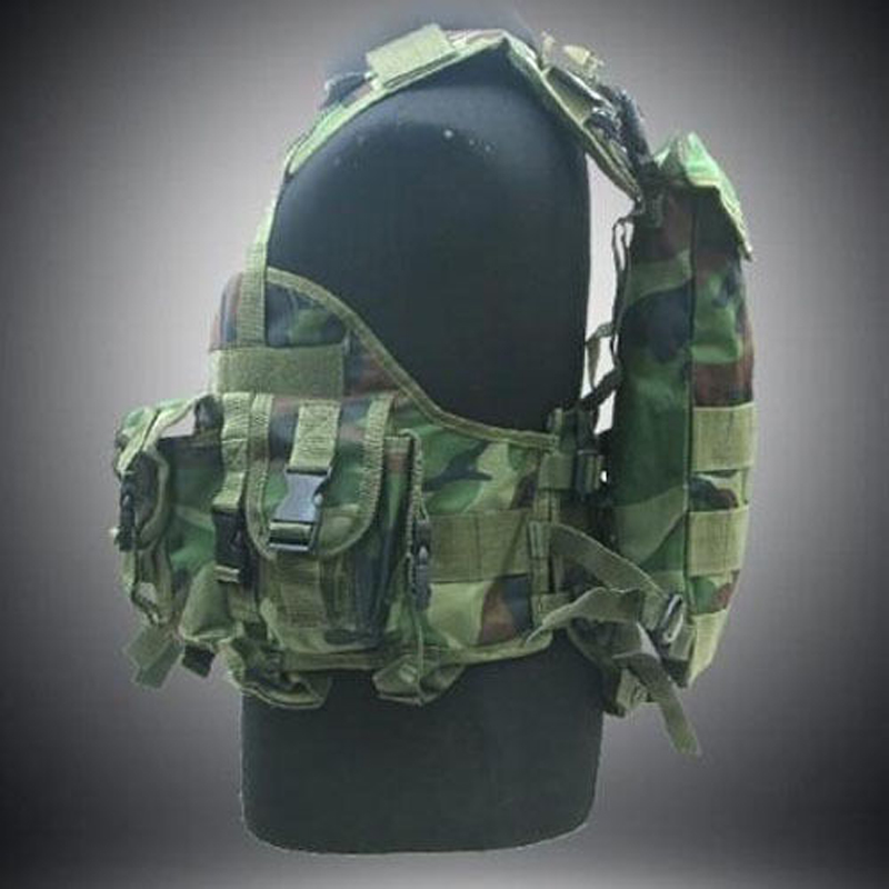 Outdoor Military Tactical Army Polyester Airsoft War Game Hunting vest