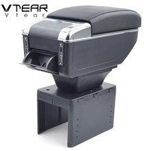 Vtear для Daihatsu sirion подлокотник коробка зарядка через usb повысить двойной слой центральный магазин содержание обладатель Кубка пепельница аксессуары