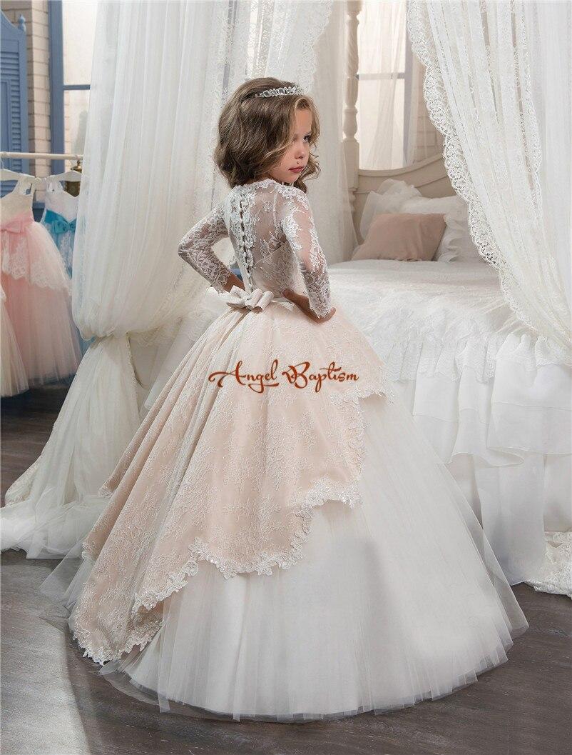 Aliexpress Buy Pretty Princess Champagnewhite Lace Ball Gown