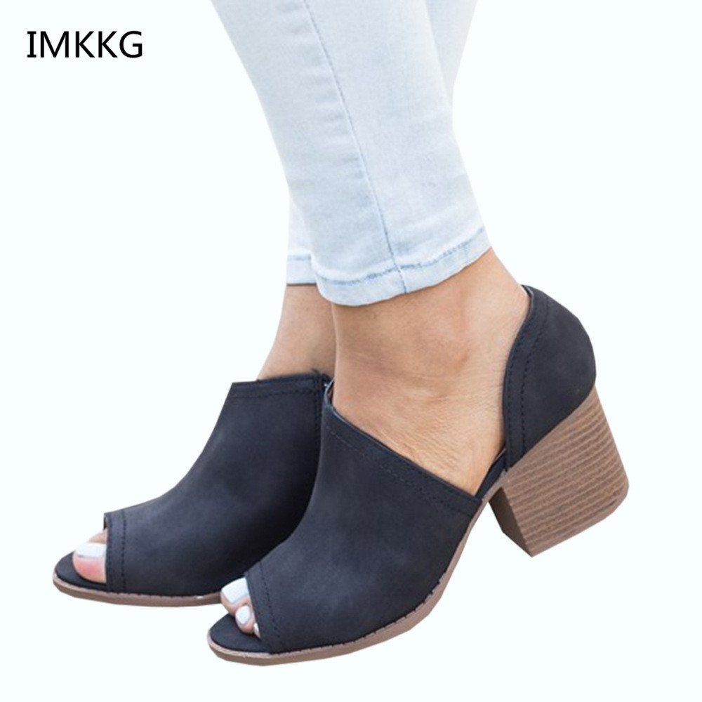 2f284f866784 2018 Hot sale summer shoes fashion punk high heels shoes woman zipper peep  toe woman sandals