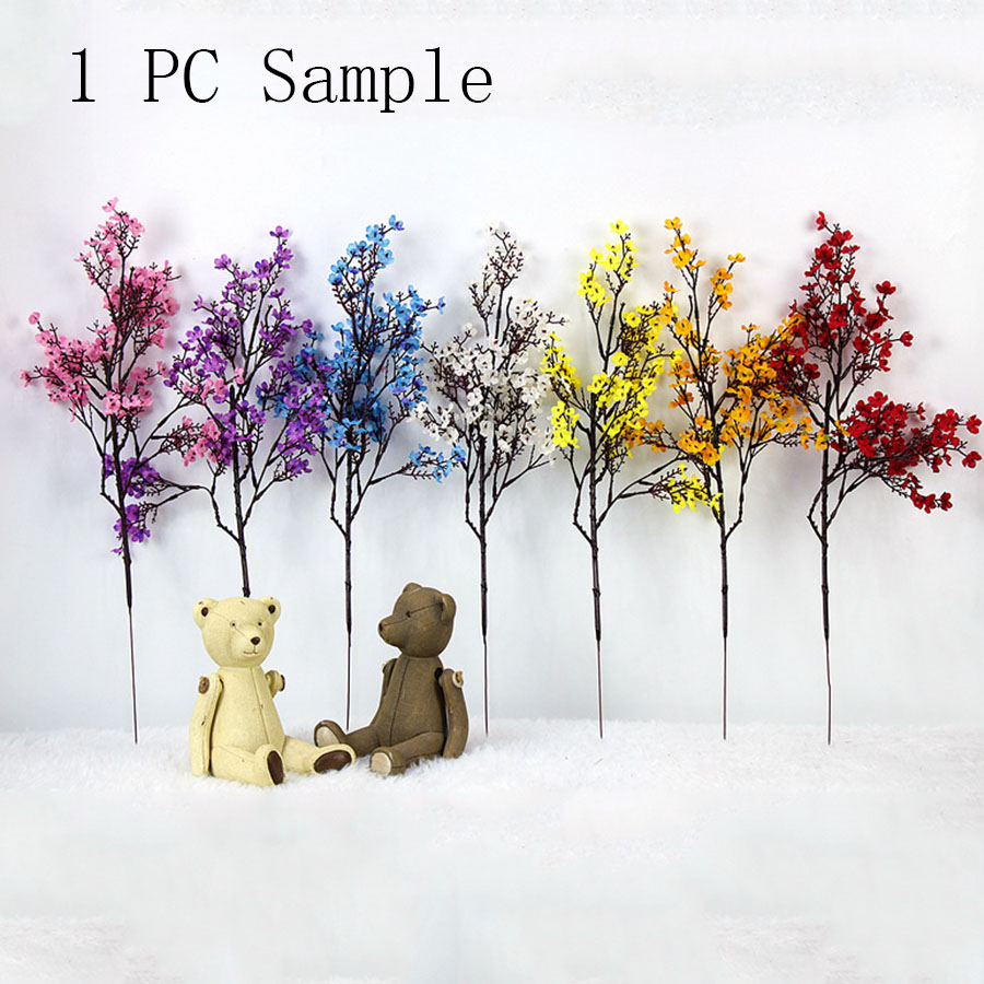 Cherry Blossoms Artificial Flowers For DIY Wedding Decoration And Home Bouquet 5