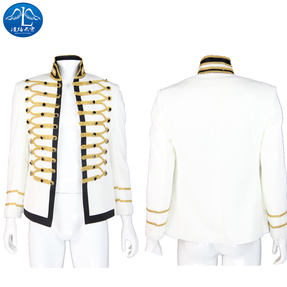 ManLuYunXiao Michael Jackson Jacket Men Michael Jackson Cosplay Costume Halloween Costums For Men Custom Made Free Shipping