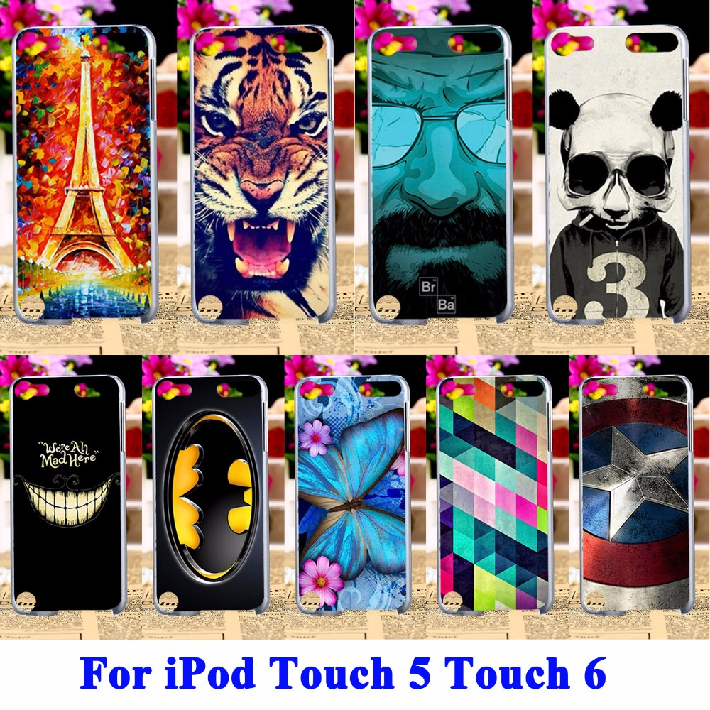 mobile phone Cases for Apple iPod Touch 5 Covers 5th 5G Touch 6 6th Bags Protector sheath Captain America BatMan Shell Hood