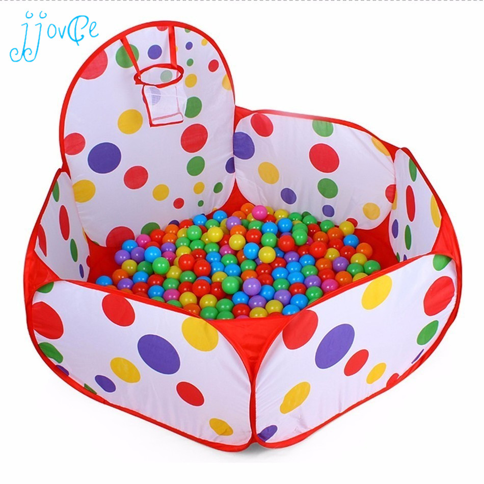 Pop up Hexagon Polka Dot Children Ball Play Pool Tent Convinent for Kids Playing Inside Carry Tote Toy for Kids Home Storage bag