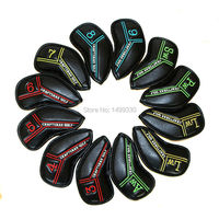 Colorful Golf Iron Covers Club Headcovers Embroidery Color Marking 12PCS 3 4 5 6 7 8