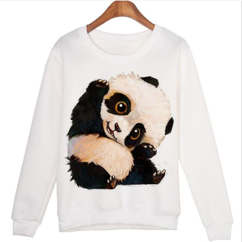 Sleek minimalist Cute 3D Treasure Panda Pattern Print High Quality Turtleneck Sweater