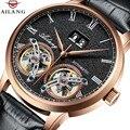 Двойной турбийон механические часы Для мужчин лучший бренд класса люкс автоматические часы Для мужчин часы Водонепроницаемый сапфир наруч...