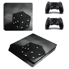 HOMEREALLY серый космическая коробка виниловая наклейка на заказ Наклейка Обложка для sony Playstation 4 Slim консоли и PS4 Сельма контроллер кожи