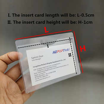Plastic PVC Soft Cover Item Material Label Tag Tab Sign Name Card Holders with Adhesive Glue on Back in Warehouse Storage 200pcs