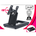 Full Motion Foldable 14-24 inch Touch Screen Stand Monitor Holder TV Mount Steel Base