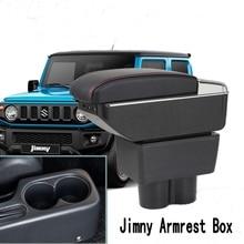 Для Suzuki Jimny подлокотник коробка центральный магазин интерьер подлокотник хранение автомобиля-Стайлинг Аксессуары с подстаканником пепельница товары