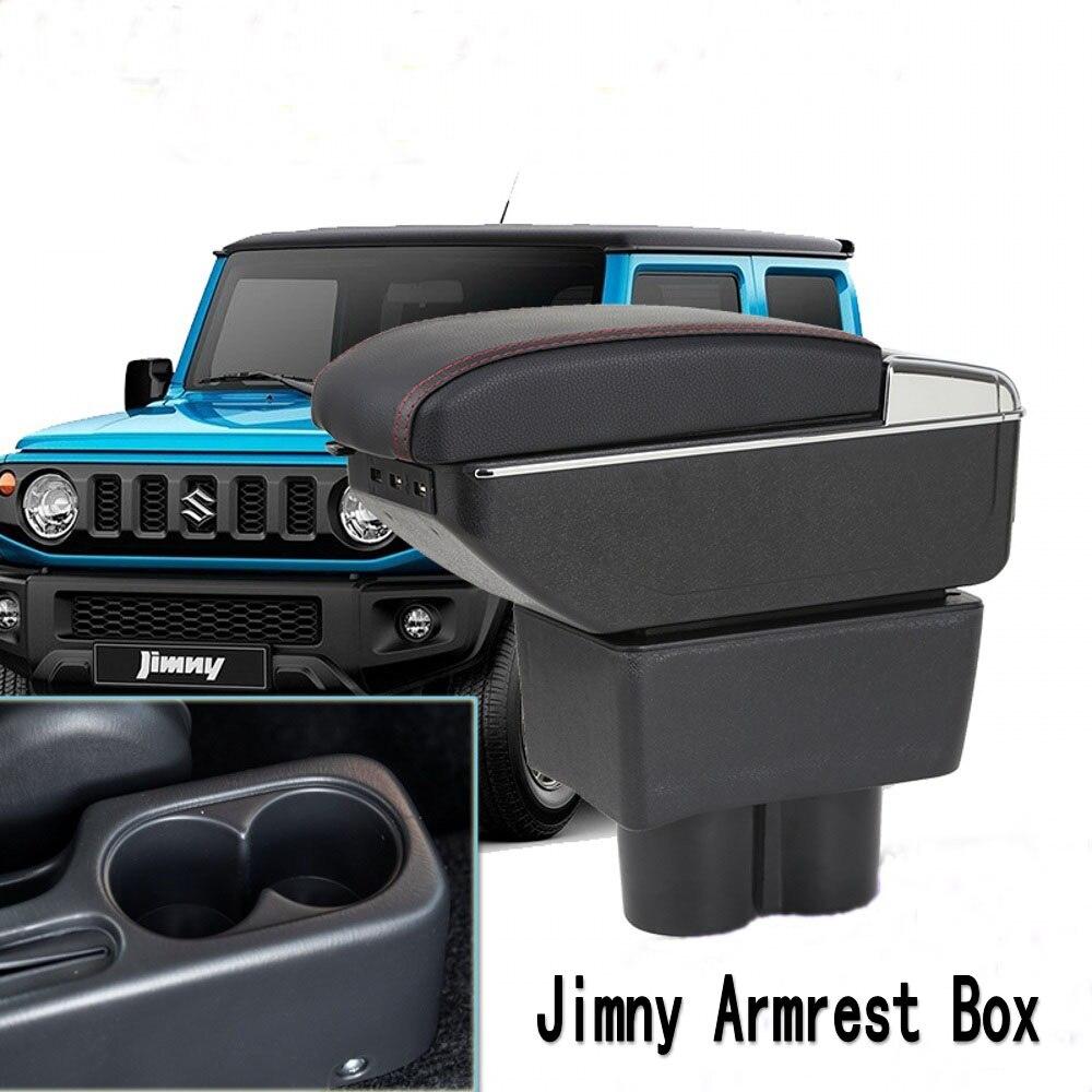 Para Jimny Loja interior De Armazenamento Apoio de Braço caixa apoio de braço central acessórios com suporte de copo cinzeiro do carro-styling produtos