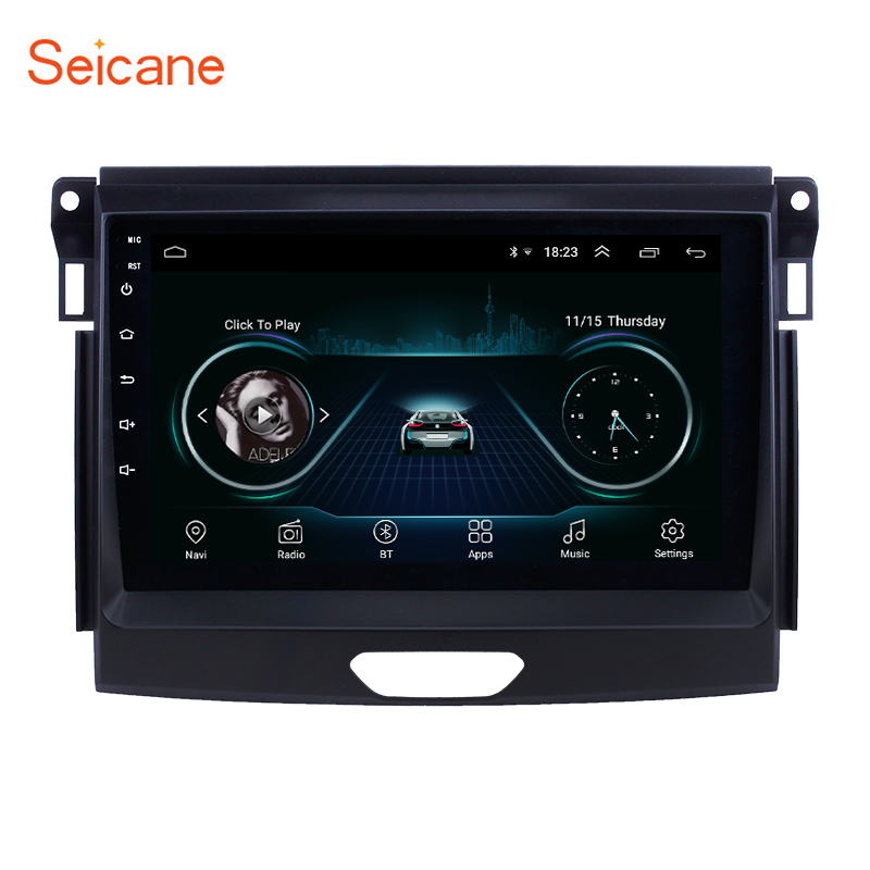 Seicane Android 8.1 9 inch Car Unit Player GPS Navigation Radio for Ford Ranger 2015 support Carplay Digital TV TPMS SWC DVR OBDSeicane Android 8.1 9 inch Car Unit Player GPS Navigation Radio for Ford Ranger 2015 support Carplay Digital TV TPMS SWC DVR OBD