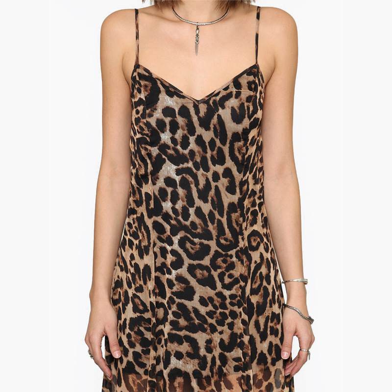 a10b3cc2c5f6 Witsources Maxi Dress women sexy deep V neck spaghetti strap backless  leopard print long chiffon dresses SD2261-in Dresses from Women's Clothing  on ...