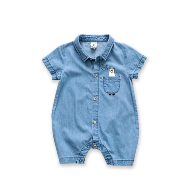 Fashion Denim Baby Romper Suit 3