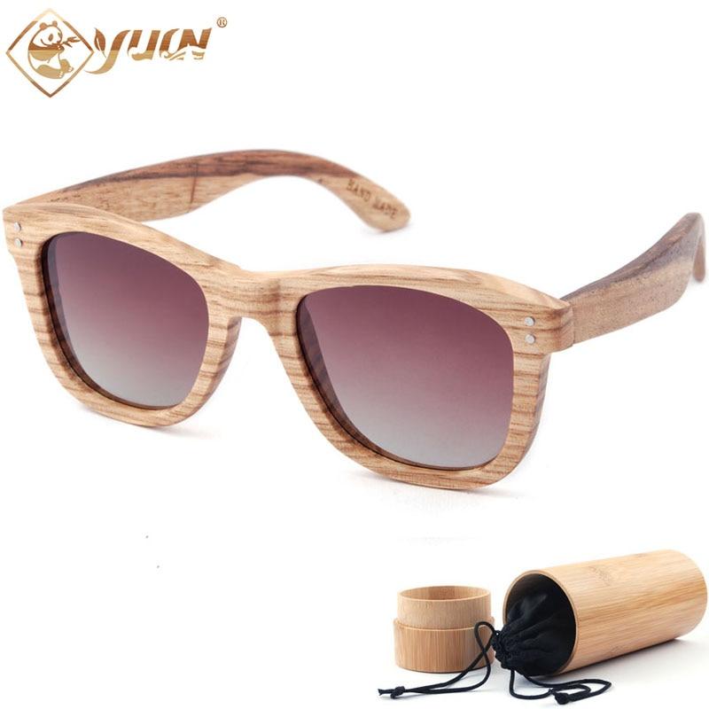 d98c652fc4f0fc Mode 2018 lunettes de soleil polarisées cadre en bois classique hommes  femmes marque designer lunettes de soleil lunette logo Personnalisé  personnel