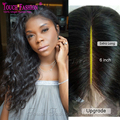 2017 New Arrival Deep Part Lace Front Wig Water Wave Brazilian Hair For Black Woman 13*6 Lace Frontal Human Hair Front Lace Wigs