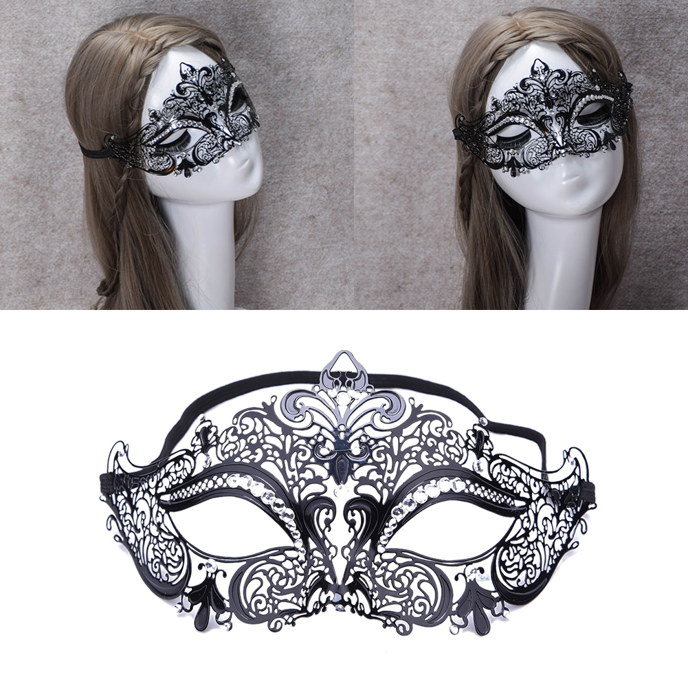 Masquerade mask masquerade mask vine mask metal lace masquerade - Metal Masquerade Masks Elegant Metal Laser Cut Venetian Halloween Fancy Ball Black Masquerade Mask For Dancing Party 4 Type
