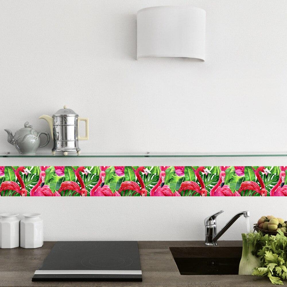 keuken tegels stickers : Flamingo Patroon Keuken Tegels Stickers Waterdicht Anti Olie