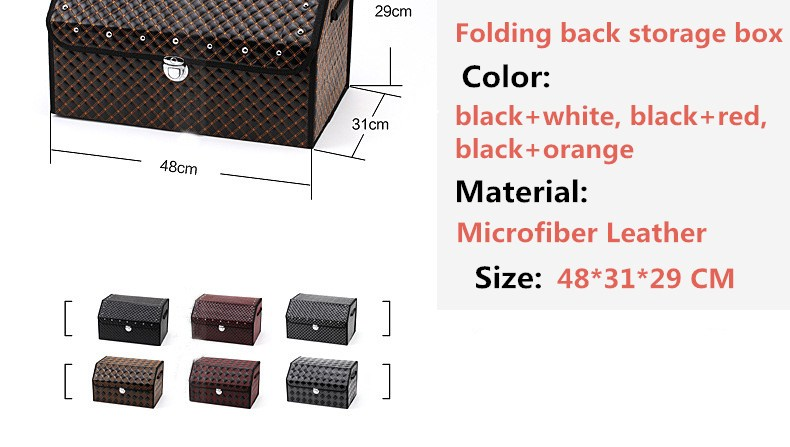 We Sell Quality Classic Luxury Leather Car Trunk Organizer Storage Box