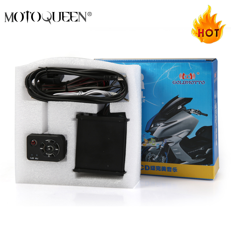 MotoQueen 35w * 4 motor kenderaan speaker kotoran basikal mp3 pemain FM radio ATV motor sistem audio mp3