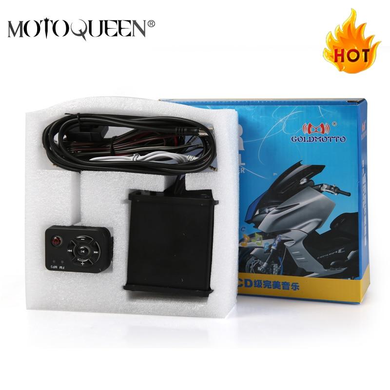 MotoQueen 35w*4 motor vehicle speakers dirt bike mp3 player FM radio ATV motorcycle audio mp3 system