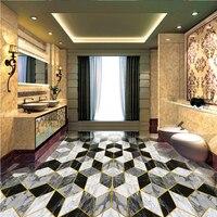 Beibehang Personalizar qualquer tamanho mural do hotel lobby art parquet telhas de pedra casa de banho chão 3d papel de parede 3d papel de parede