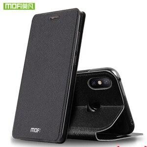 Image 2 - Xiaomi Mi A2 Lite 커버 용 Mofi 가죽 플립 케이스 Smart Week 수면 쉘 전체 보호기 Xiomi 128gb xaomi 64gb Funda Matte Capa