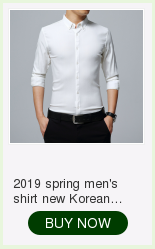 2019 spring new men's shirt Korean version of the self-cultivation youth casual business cotton shirt tide men's boutique shirt 20