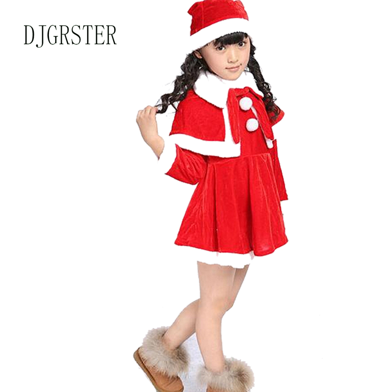 DJGRSTER 2019 New Christmas Baby Romper Clothing Boy Girl Cloth Set  Red Boy Girls Christmas Santa Claus Costumes For Kids