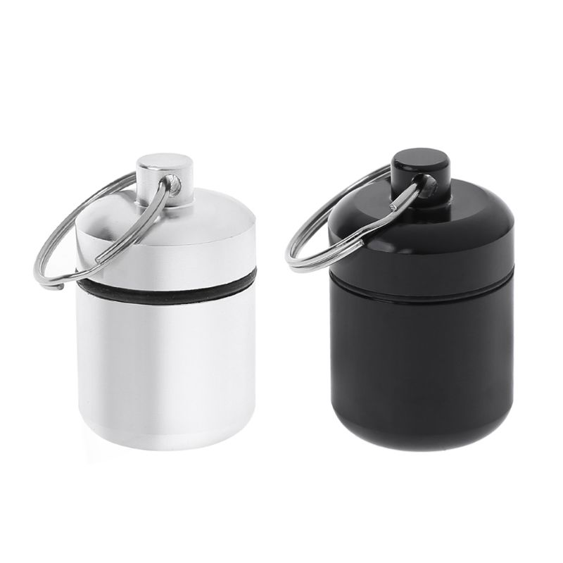 Mini Portable Aluminium Alloy Pill Box Carrying Bottle Case Noise Canceling Hearing Protection Earbuds Earplugs