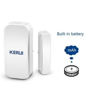 Image 3 - Original KERUI D025 433MHz Drahtlose Fenster Tür Magnet Sensor Detektor Für Home Drahtlose Alarm System