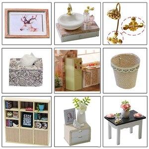 Image 4 - Cutebee bebek evi mobilya minyatür Dollhouse DIY minyatür ev odası kutusu tiyatrosu oyuncaklar çocuklar için çıkartmalar DIY Dollhouse E