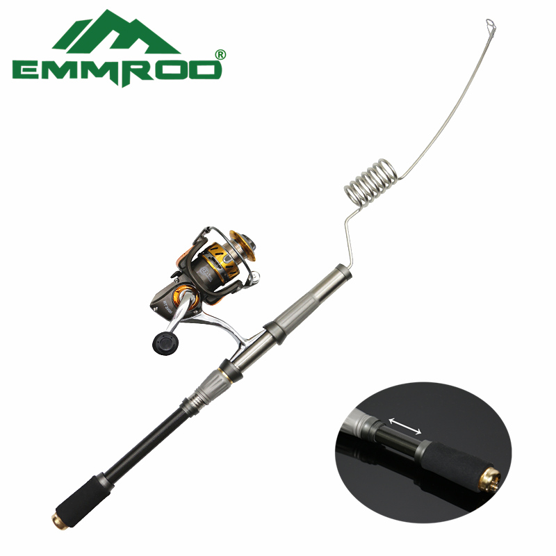 2016 new emmrod spinning fishing rod tackle mini ocean for Steel fishing rod