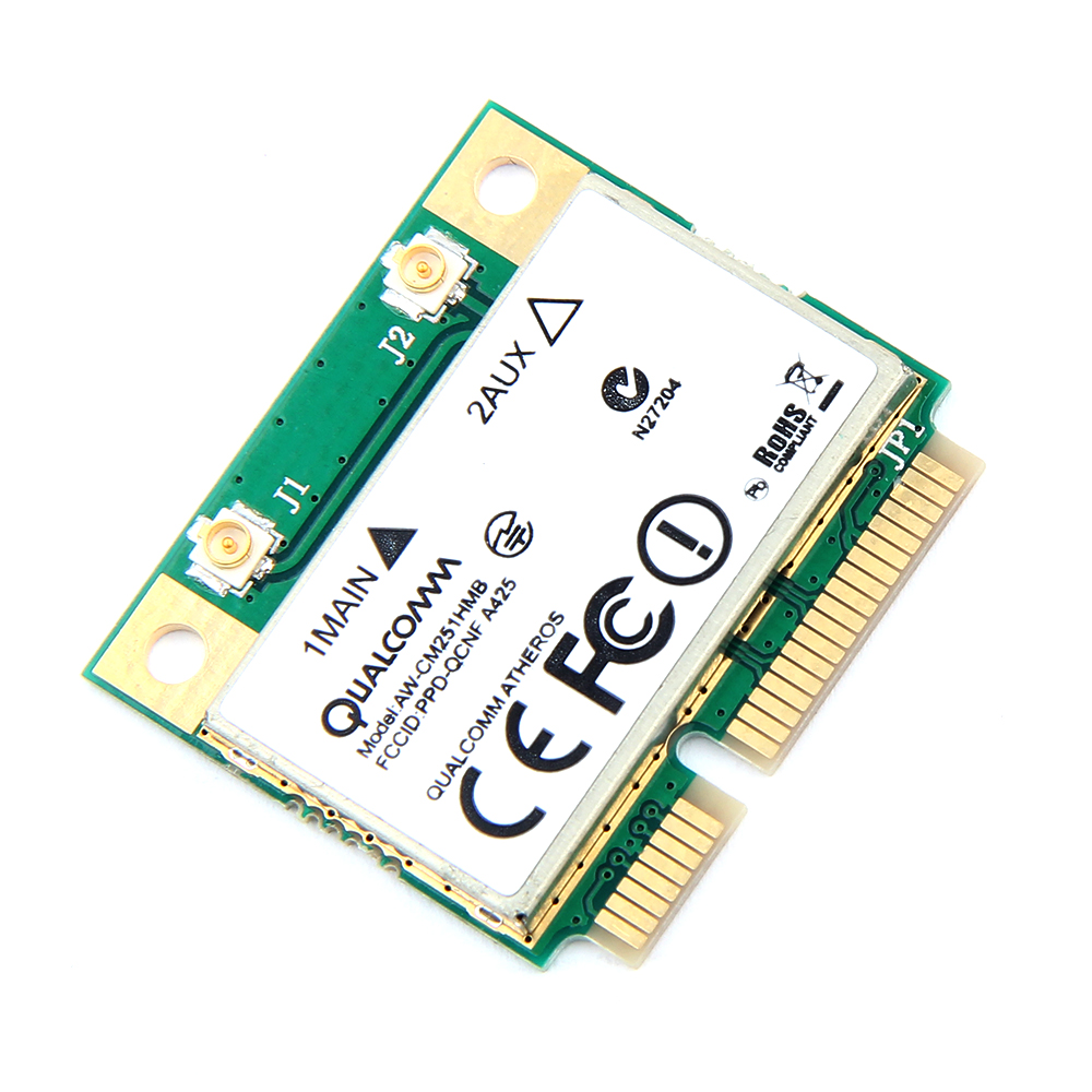 Image 2 - Dual Band Atheros WiFi Bluetooth Card 433Mbps Qualcomm AW CM251HMB 802.11a/b/g/n/ac 2.4/5G BT 4.0 Wireless Mini PCI E Wlan-in Network Cards from Computer & Office