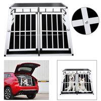 97x90x69,5 см двойной двери кошка собака транспорта Box Car дорожные аксессуары клетка спереди 65 градусов сзади 90 градусов клетке для перевозки соб