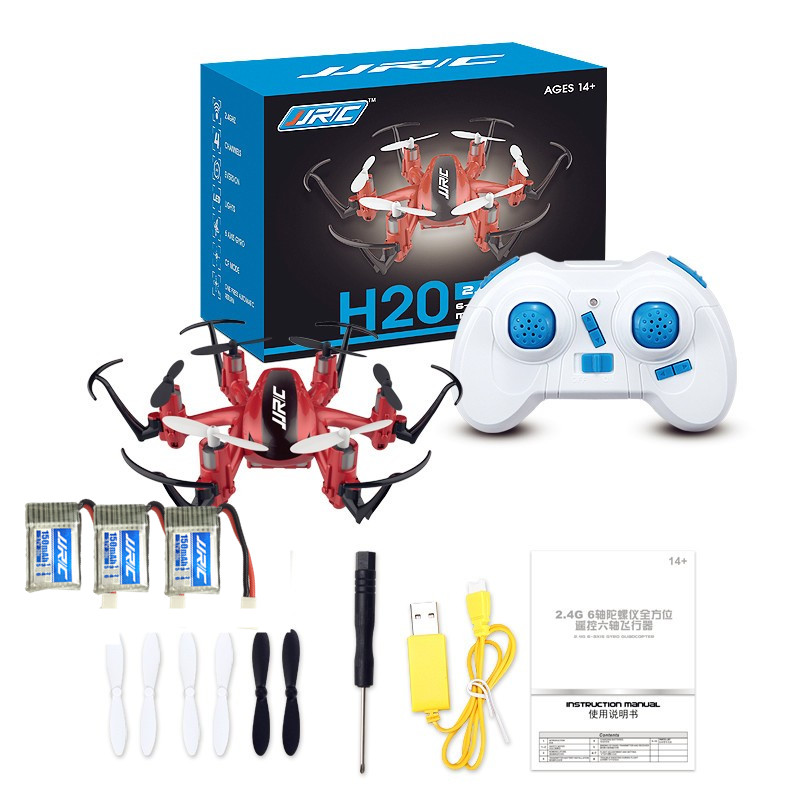 Mini RC Drone 6 Axis Rc Dron Jjrc H20 Micro Quadcopters Professional Drones Flying Helicopter Remote