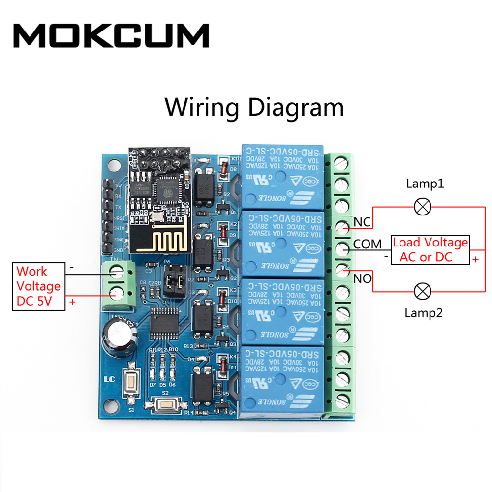 5 в ESP8266 ESP-01 4 Wifi реле канала модуль дистанционное управление переключатель для умного дома IOT передача телефона APP Control ler